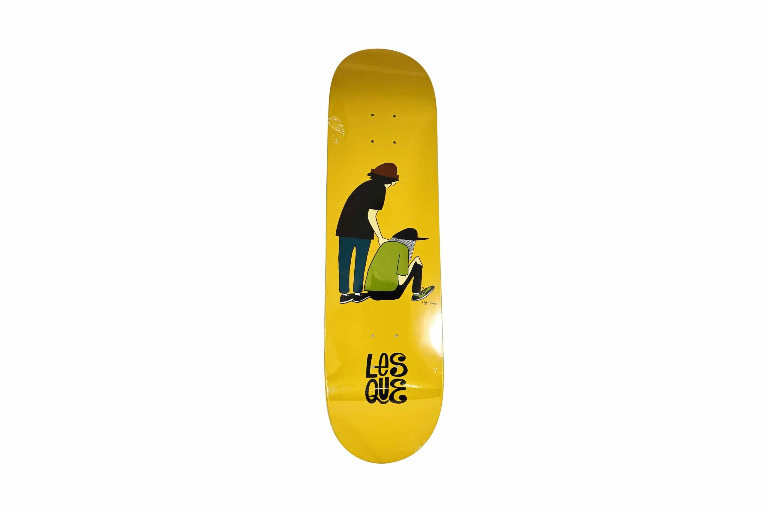 "Yusuke Hanai x Lesque ""Team"" skateboard. 2020. Image © by Nonsuch Editions."
