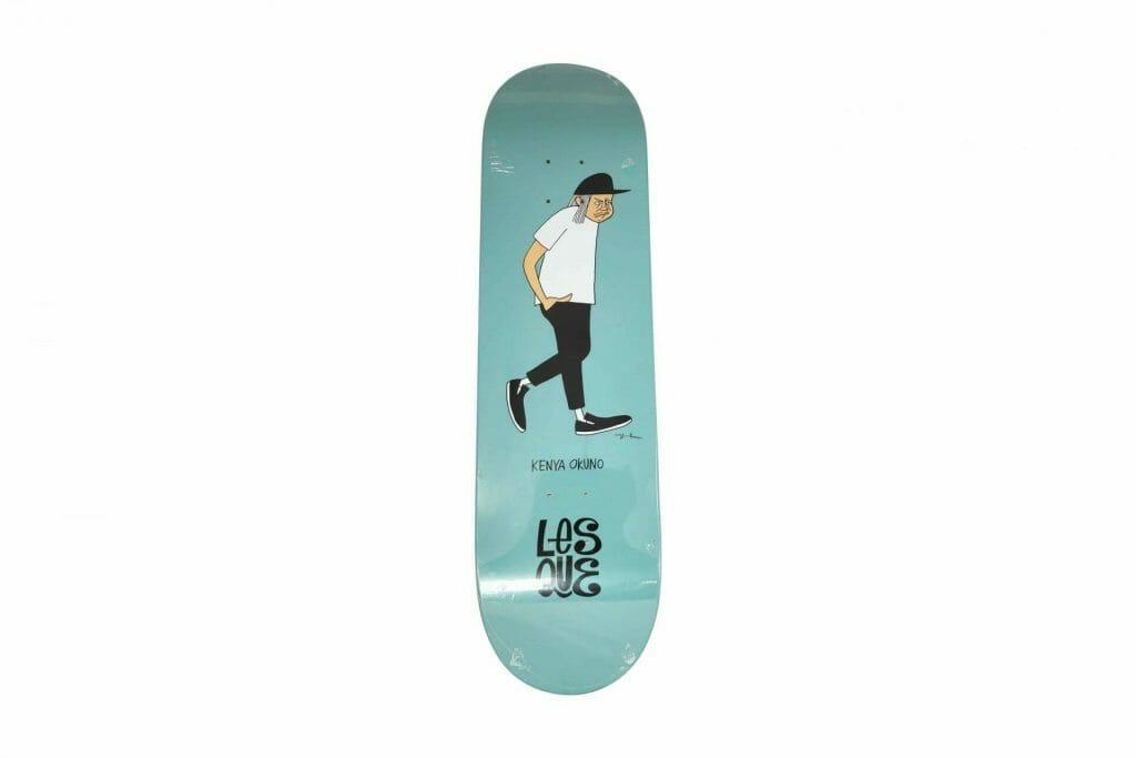 "Yusuke Hanai x Lesque ""Kenya Okuno"" skateboard. 2020. Image © by Nonsuch Editions."