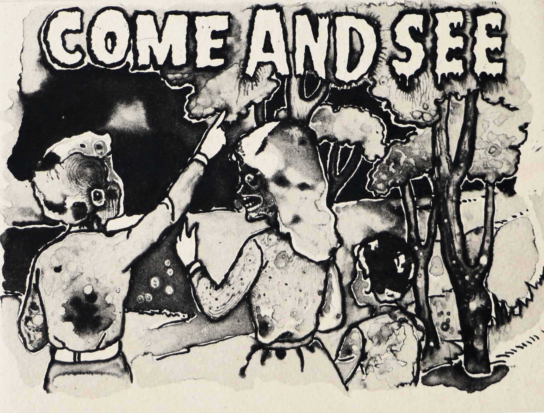 """Jake & Dinos Chapman """"Come and See,"""" etching. 2013. Image © by Nonsuch Editions."""