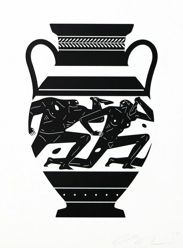 """Cleon Peterson """"End Of Empire Amphora"""" screenprint. 2018. Image © by Nonsuch Editions."""