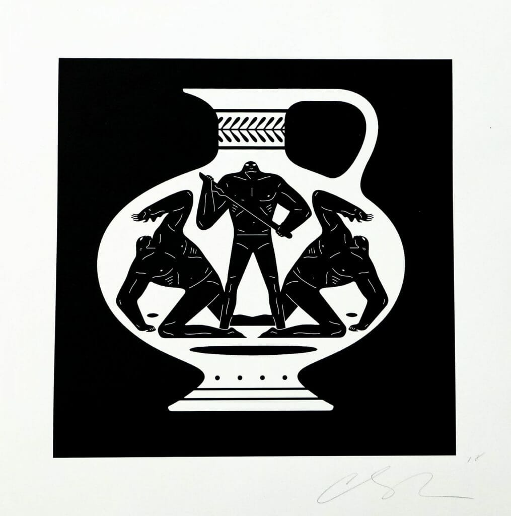 """Cleon Peterson """"End Of Empire Aryballos"""" screenprint. 2018. Image © by Nonsuch Editions."""